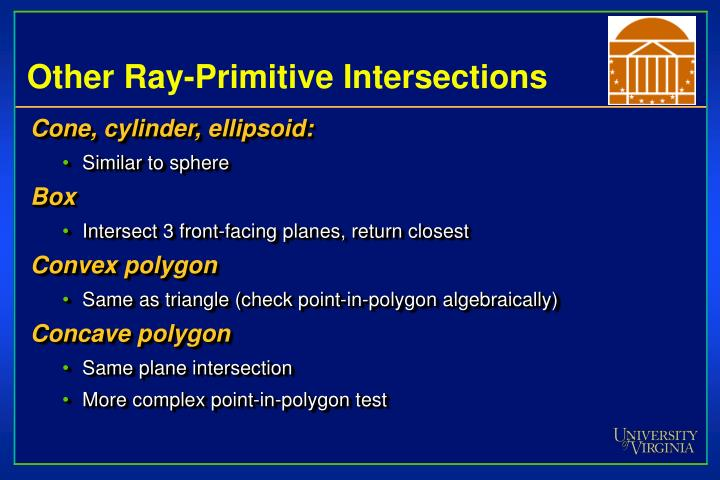 Other Ray-Primitive Intersections