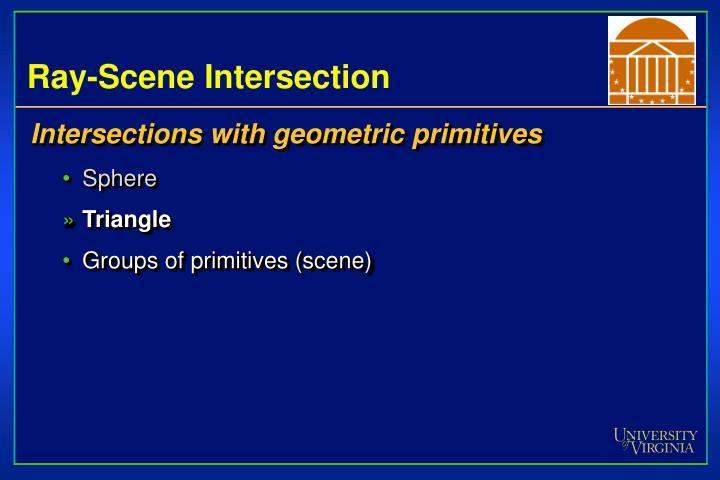 Ray-Scene Intersection