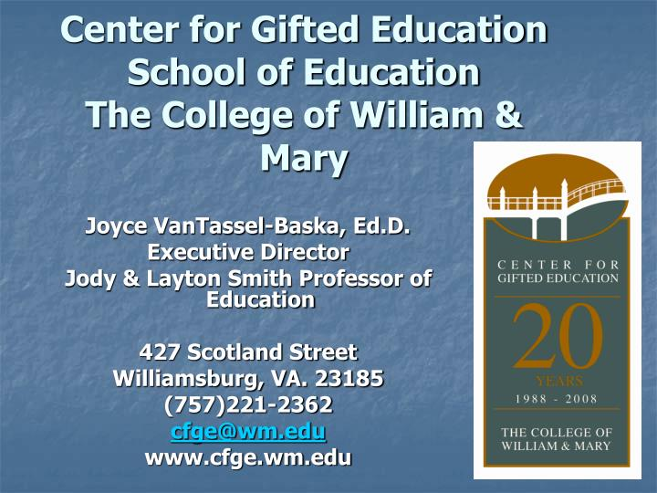Center for Gifted Education