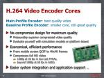 h 264 video encoder cores