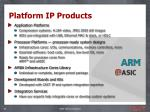 platform ip products