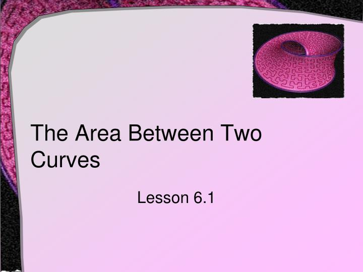 the area between two curves n.