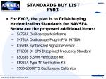 standards buy list fy03