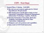 cew next steps
