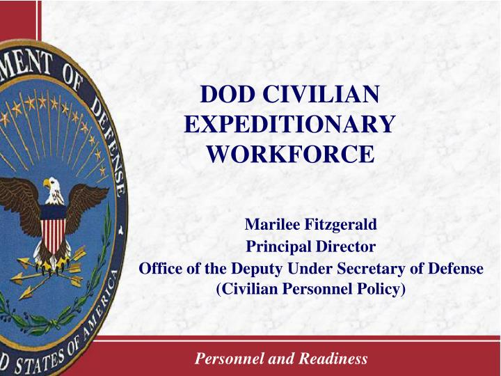 dod civilian expeditionary workforce n.