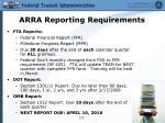 arra reporting requirements