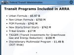 transit programs included in arra