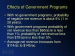 effects of government programs