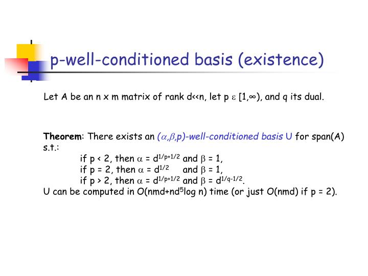 p-well-conditioned basis (existence)