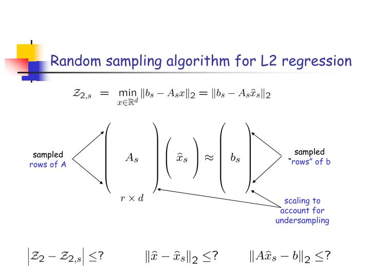 scaling to account for undersampling