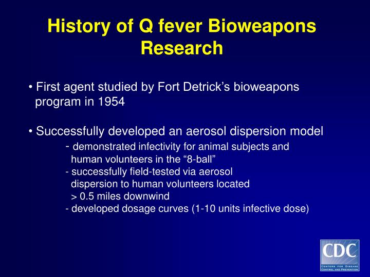 History of Q fever Bioweapons Research