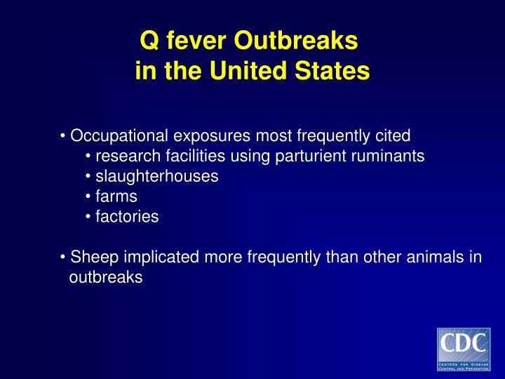 Q fever Outbreaks