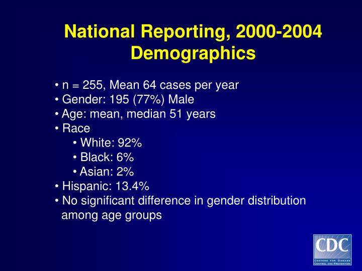 National Reporting, 2000-2004