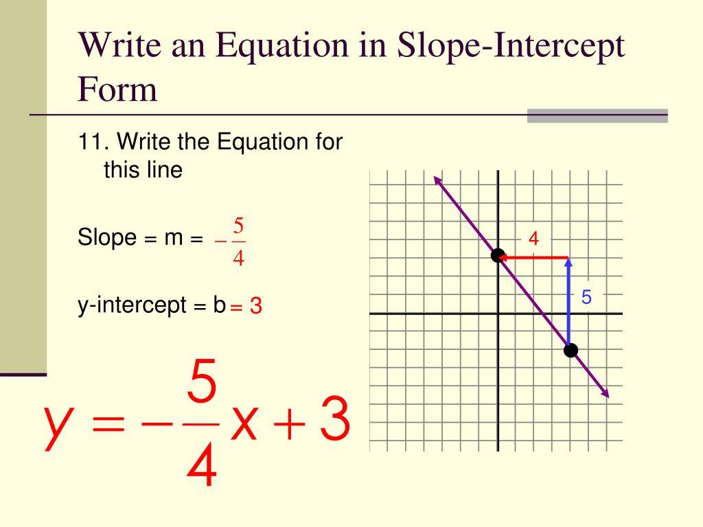 PPT - 5.2 Slope-Intercept Form PowerPoint Presentation ...