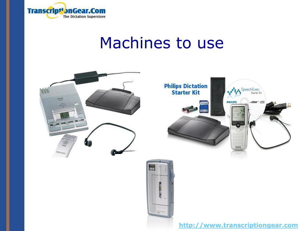 Machines to use