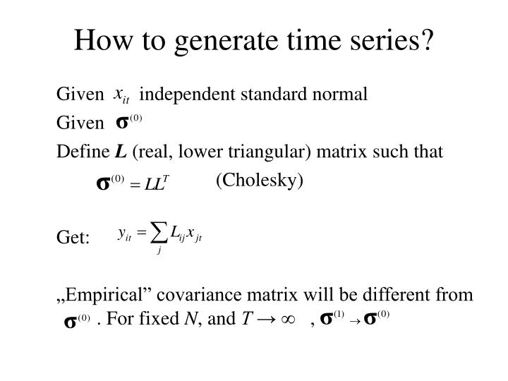How to generate time series?