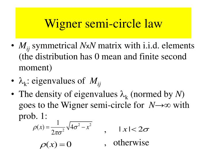 Wigner semi-circle law
