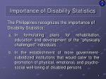 importance of disability statistics