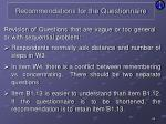 recommendations for the questionnaire5