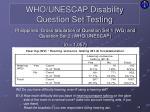 who unescap disability question set testing6