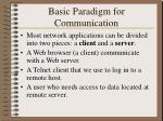 basic paradigm for communication