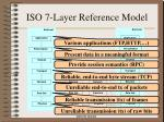 iso 7 layer reference model