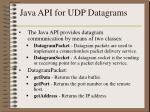 java api for udp datagrams