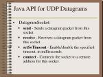 java api for udp datagrams1