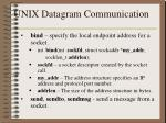unix datagram communication