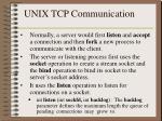 unix tcp communication