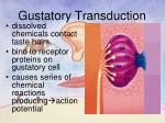 gustatory transduction