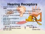 hearing receptors1