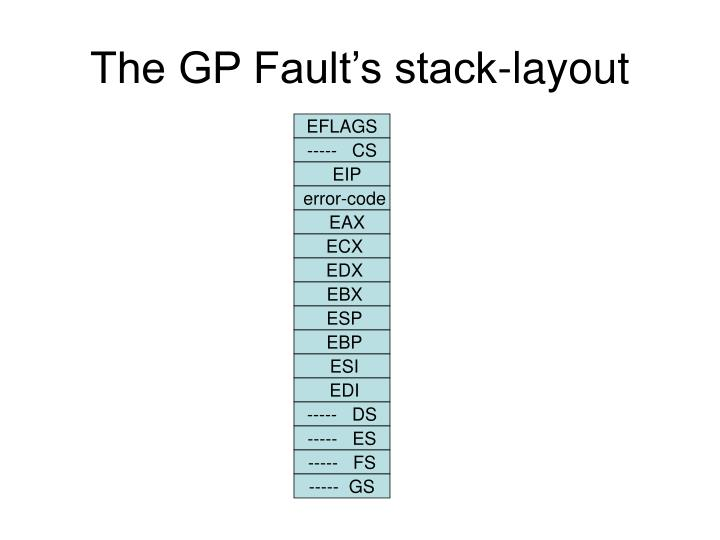 The GP Fault's stack-layout