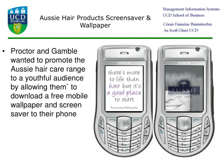 Aussie Hair Products Screensaver & Wallpaper