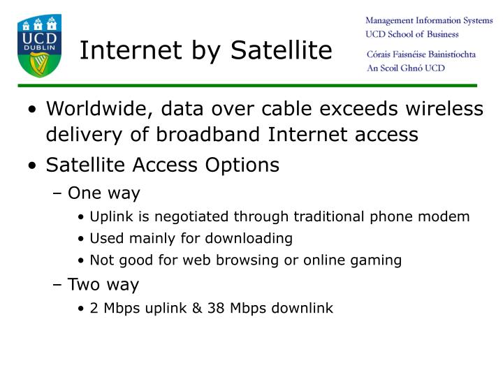 Internet by Satellite