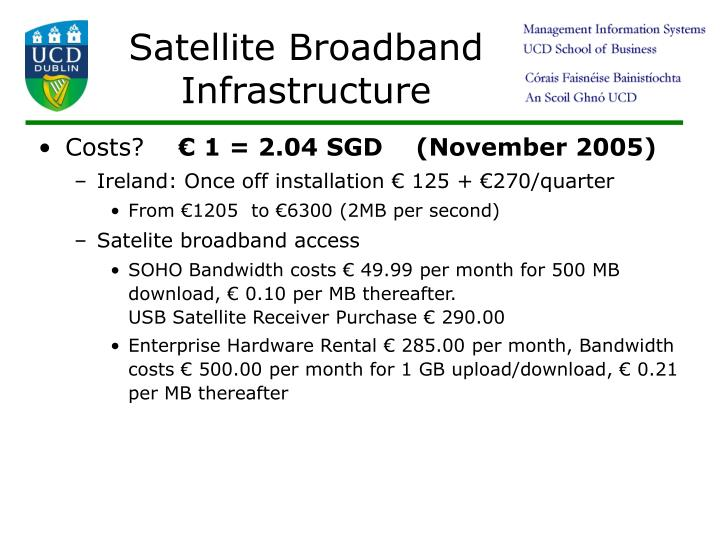 Satellite Broadband Infrastructure