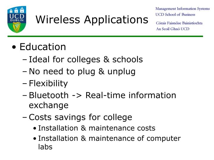 Wireless Applications
