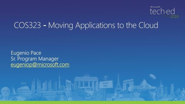 Cos323 moving applications to the cloud