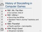 history of storytelling in computer games1