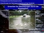 ursachen f r berflutungen durch die kanalisation