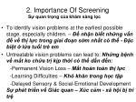 2 importance of screening s quan tr ng c a kh m s ng l c