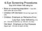 6 eye screening procedures quy tr nh kh m m t s ng l c