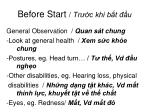 before start tr c khi b t u