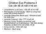 children eye problems 2 c c v n v m t tr em