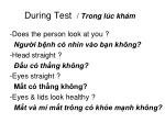 during test trong l c kh m