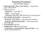 screening procedures quy tr nh kh m s ng l c