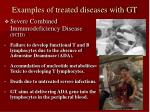 examples of treated diseases with gt