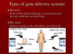 types of gene delivery systems