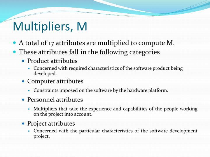 Multipliers, M