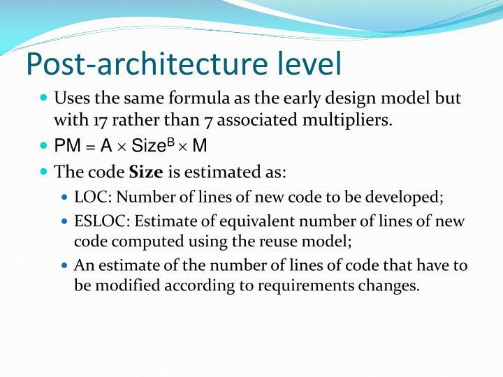 Post-architecture level